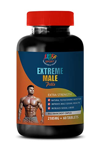 Testosterone Booster Herbal - Extreme Male Pills - Extra Strength - tribulus Supplements for Men - 1 Bottle 60 Tablets by Sport Nutrition & Vitamins USA