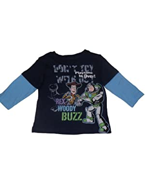 Disney Baby-boys Don't Toy with Us Long Sleeve Shirt