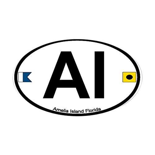 CafePress - Amelia Island FL Oval Sticker - Oval Bumper Sticker, Euro Oval Car - Fit Fl You Plantation