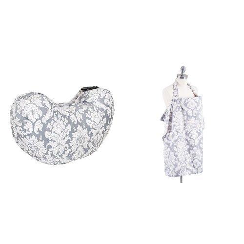 Bebe au Lait Premium Cotton Nursing Cover and Nursing Pillow