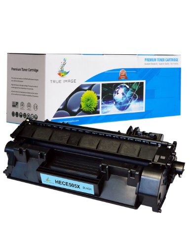 TRUE IMAGE HECE505X Compatible High Yield Toner Cartridge Replacement for HP 05X/CE505X, Black