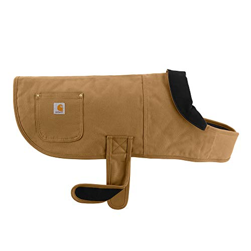 Carhartt Chore Coat, Dog Vest, Water Repellent Cotton Duck Canvas, Carhartt Brown, Small