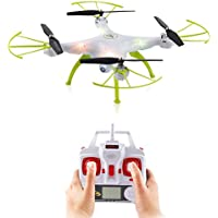 2016 Syma New Product X5HC (better than X5SC)2.4GHz Wifi FPV With 2MP HD Camera High Hold Mode 6-Axis Gyro Headless Mode RC Quadcopter RTF (Color:White)