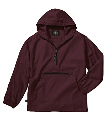 Charles River Apparel Unisex Youth Pack-N-Go Pullover, Large Maroon