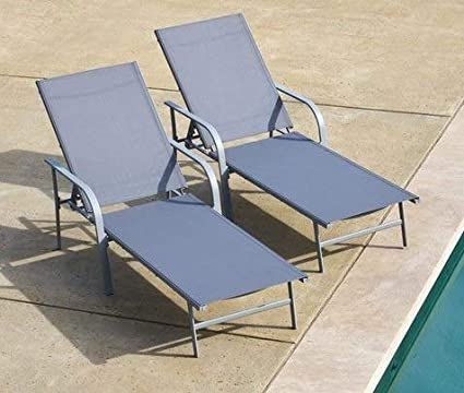 Wondrous Amazon Com Sun Loungers Outdoor Lounge Chairs For Pool Machost Co Dining Chair Design Ideas Machostcouk