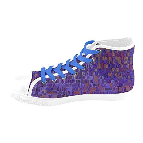 Artsadd Graphics 10_17 Hoge Canvas Schoenen Voor Dames (model002)