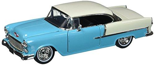 - Jada 1:24 W/B - Showroom Floor - 1955 Chevrolet Bel Air Hard Top - Mijo Exclusives - Blue