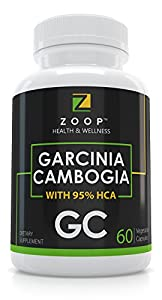 Zoop Garcinia Cambogia With 95% Hydroxycitric Acid. Carb Blocker & Fat Burner, Non-Stimulant & Gluten Free Diet Pills, Appetite Suppressant And Weight Loss Pills For Woman And Men.