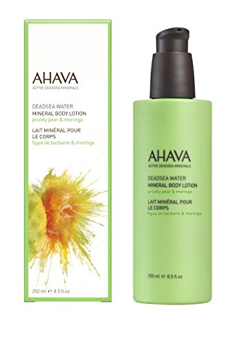 AHAVA Mineral Body Lotion Prickly Pear & Moringa, 8.5 Fl Oz