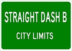 OLDSMOBILE STRAIGHT DASH B City Limit Sign - 10 x 14 Inches