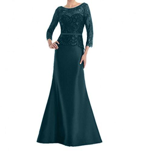 Spitze Langes Damen Blau Dunkel Promkleider Partykleider Brautmutterkleider Abschlussballkleider Charmant Abendkleider qBpx4EnwES