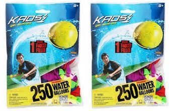 Imperial Kaos Water Balloons 2/pack (250 Balloons with 2 Faucet Fillers in each pack) by Tie-Not (Image #1)
