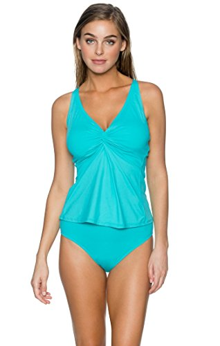 Sunsets Women's Forever Tankini, Aqua Sky, (Underwire Bathing Costumes)