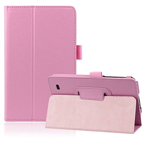 Bestpriceam (TM) Fashion Stand Folding Folio Leather Cover Case For LG G Pad 7.0 V400 (Pink)