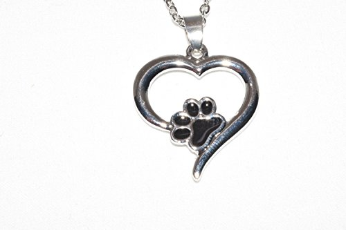 [STYLISH ZONE-Paw Print costume-fashion-solitaire-gold-silver-Pet-necklace-jewelry-Perfect for Dog Lovers- friendships-relationships-best] (Weenie Costumes)