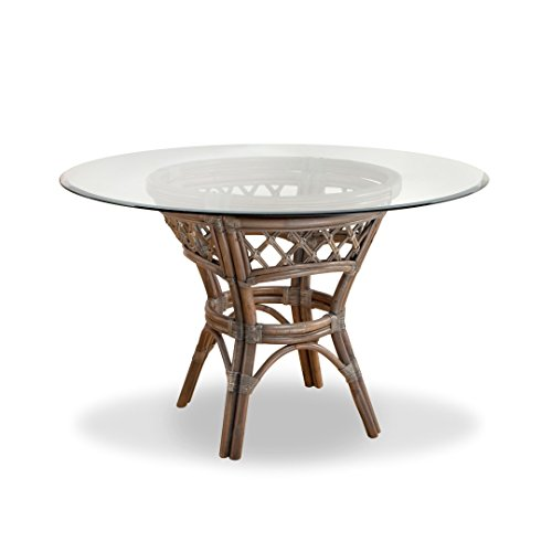 (South Sea Rattan 6217-WIL-GL42RD Willow Nadine Round Dining Table)