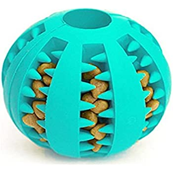 Idepet Dog Toy Ball, Nontoxic Bite Resistant Toy Ball for Pet Dogs Puppy Cat, Dog Food Treat Feeder Tooth Cleaning Ball ,Dog Pet Chew Tooth Cleaning Ball Pet Exercise Game Ball IQ Training ball
