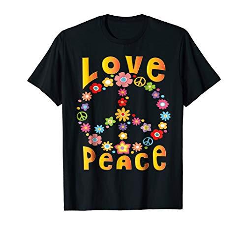 LOVE PEACE FREEDOM T-Shirt 60s 70s Tie Dye