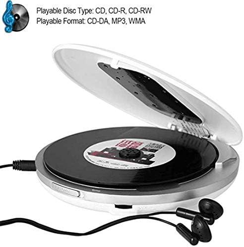 ブルートゥースポータブルCDプレーヤー、高忠実度ステレオMP3デジタルCDプレーヤー、LCDモニターアンチジャンプおよび耐衝撃性車ステレオAUX MP3プレーヤー