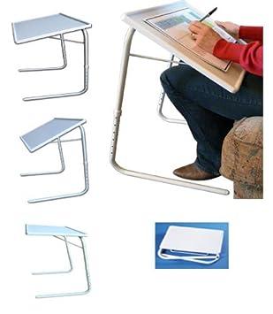 Amazon.com: Multi posición mesa plegable blanco ...