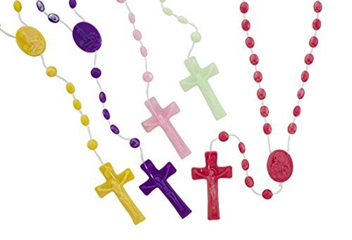 Assorted Color Pearlized Catholic Prayer Bead Rosary, 16 1/2 Inch, Pack of 100