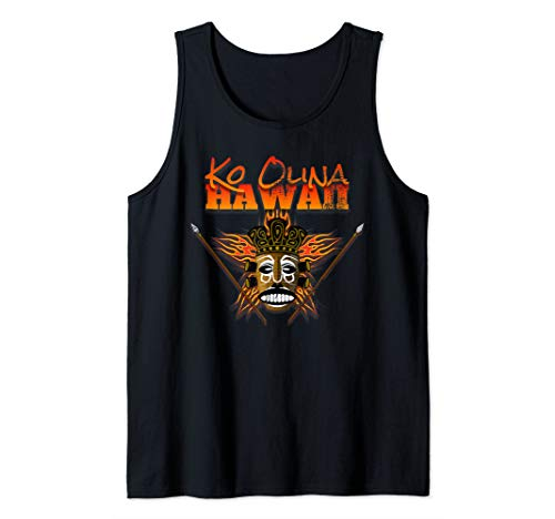 Hawaiian Shirt Ko Olina Oahu Hawaii Native Mask Tiki Tank Top ()