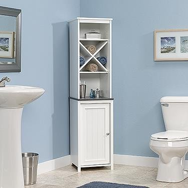 Sauder Linen Tower Bath Cabinet, Soft White Finish by Sauder
