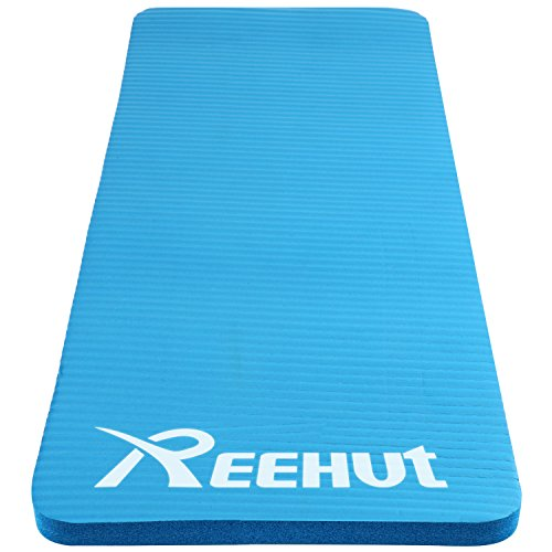 [Reehut Yoga Knee and Elbow Pad 1/2-inch (15mm) Thick Mini Mat Cushions pressure points for Fitness Yoga Exercise Workout w/ Strap (Blue)] (Fuse Roller Equipment)