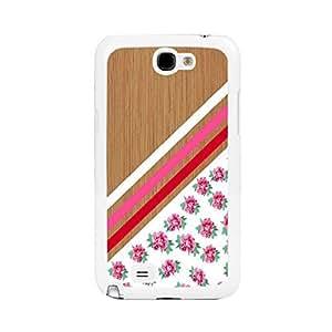 Vintage Wood Pattern Print Pink Blooming Rose Design Hard Plastic Samsung Galaxy Note 3 N7100 Cell Phone Case