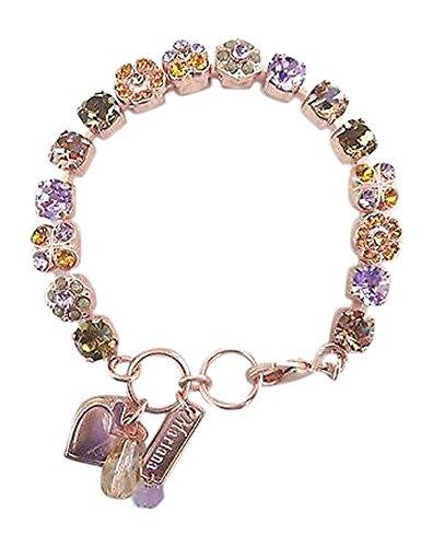 Mariana Violet with Topaz and Olivine 1021 Swarovski Rose Gold 7-8 Bracelet