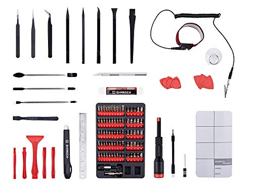 SHARDEN Precision Screwdriver Set 108 in 1 with 75 Magnetic Bits, Professional Repair Tool Kit with Portable Bag for PC, iPhone, Cell Phone, Tablet, Macbook, Watch, Camera, Other Home Electronics
