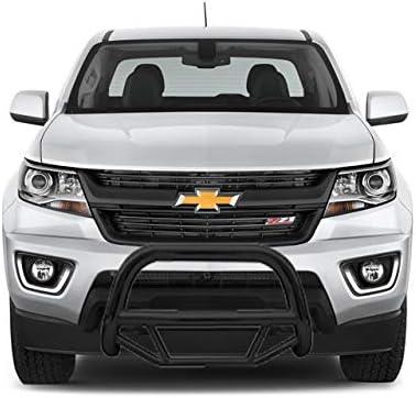 ARIES B35-4015 3-Inch Black Steel Bull Bar Select Chevrolet Colorado GMC Canyon