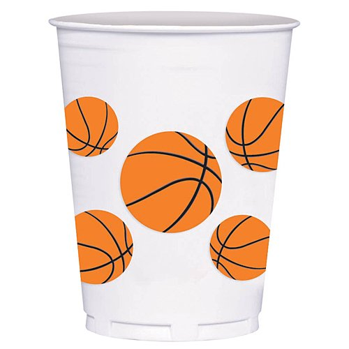 - Basketball Fan 14oz Plastic Cups 8ct