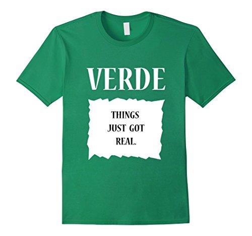 Mens Hot Sauce Packet Verde Halloween Group Costume T-Shirt Small Kelly Green -