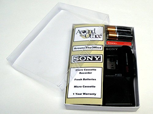 Price comparison product image Sony M-527V Microcassette handheld Voice Recorder Reboxed In Gift Box with Accessories