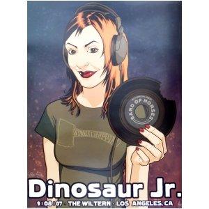 Dinosaur Jr Poster w/ Band of Horses 2007 Concert Los (2007 Concert Poster)