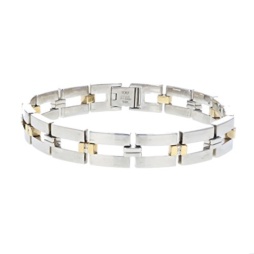 Vir Jewels Men's 0.25 CT Diamond Bracelet 9 Inches In Sta...