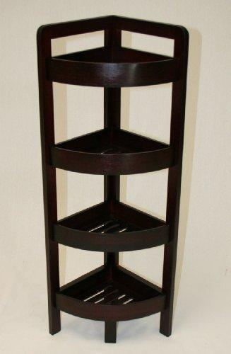 espresso corner shelves - 6