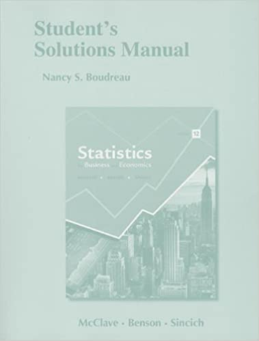 Students solutions manual for statistics for business and students solutions manual for statistics for business and economics 12th edition fandeluxe Image collections