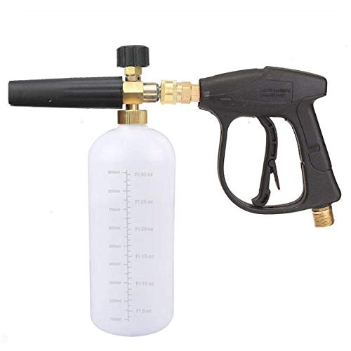 JWGJW Foam Cannon, Pressure Washer Spray Nozzle Tips Multiple Degrees, 1/4 INCH (2.5 GMP) .car wash. (Foam Cannon and high Pressure Cleaning Gun)