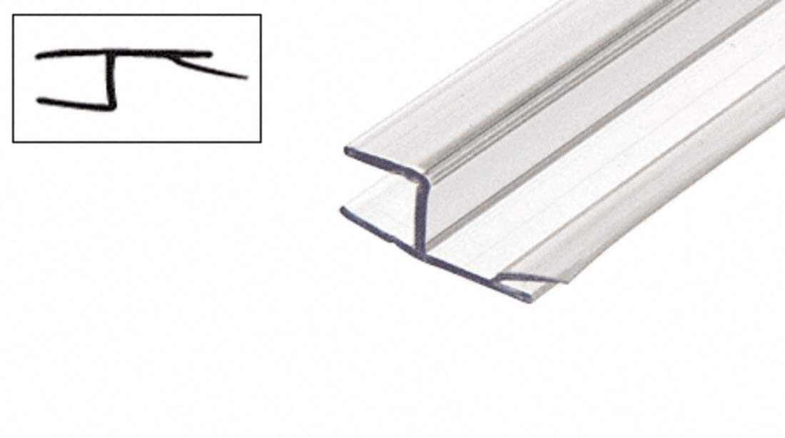 CRL Polycarbonate One Piece Strike and Door ''h'' Jamb With Vinyl Insert 180 Degree for 3/8'' Glass - 98 in Long