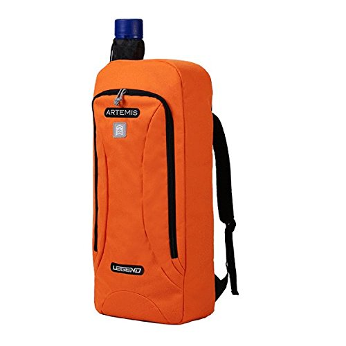 """Legend Archery Recurve Backpack Bag Artemis for Recurve Bow up to 27"""" – Telescopic Arrow Tube Included – Ideal for Beginners and Seasoned Archers (Orange)"""