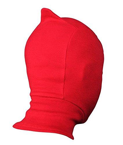 ALIEN máscara roja, disfraz 1 tamaño Senior, cómodo histriónico extraterrestres pasamontañas máscara Cosplay tela disfraz de Halloween: Amazon.es: Deportes ...