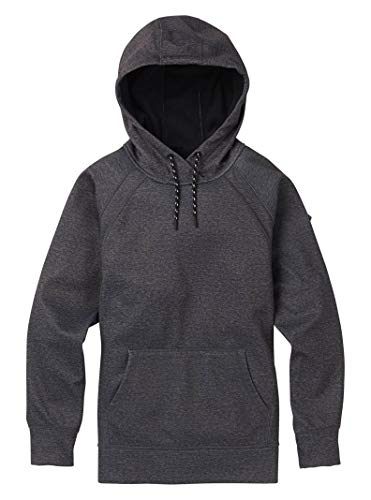 Burton Women's Crown Bonded Pullover Hoodie, True Black Heather, True Black Heather - Fleece Jacket Burton Hooded