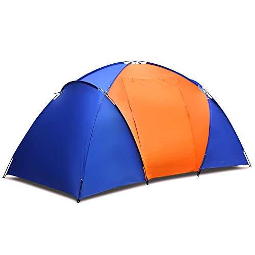 YUEBO Large Family Camping Tent with 2 Room Water Resistant Canopy Tent 2-4 Person with Carry Bag for Outdoor Sports Hiking Fishing Traveling