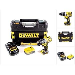 DeWalt DCD 791 P1 - Trapano avvitatore a batteria, 18 V, 70 Nm, senza spazzole + 1 batteria da 5,0 Ah + caricatore… 41bkl7 l9ZL. SS300