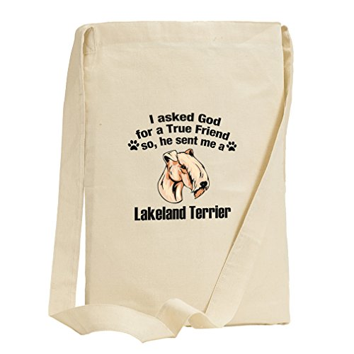 Asked God Friend Lakeland Terrier Dog Canvas Sling Tote - Lakeland Florida In Shopping