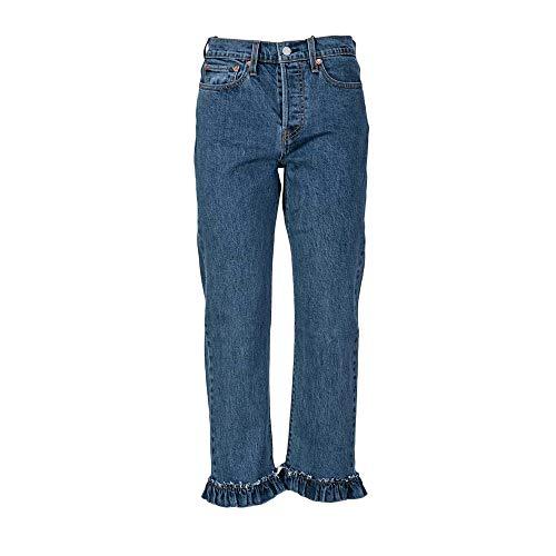 Denim 0019 Ruffle 0019 Levi's 34964 Wedgie Mes Femme Jeans Droit a6wBxz