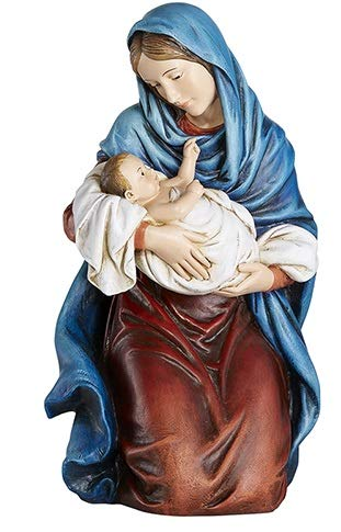 Woodington's Avalon Gallery Kneeling Madonna and Child 12 Inch Statue ()