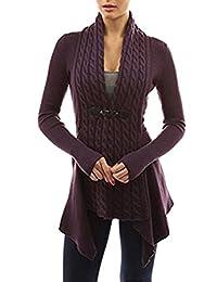 Women V Neck Knit Asymmetric Cardigan Sweater Jumper Shirt Blouses Tops